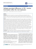 "Báo cáo y học: ""Subtype-associated differences in HIV-1 reverse transcription affect the viral replication"""