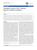 "Báo cáo y học: ""Chemokine control of HIV-1 infection: Beyond a binding competition"""