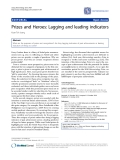 """Báo cáo y học: """"Prizes and Heroes: Lagging and leading indicators"""""""