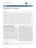 """Báo cáo y học: """" Revisiting HIV-1 uncoating"""""""