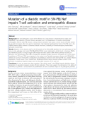 """Báo cáo y học: """" Mutation of a diacidic motif in SIV-PBj Nef impairs T-cell activation and enteropathic disease"""""""
