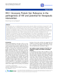 """Báo cáo y học: """" HIV-1 Accessory Protein Vpr: Relevance in the pathogenesis of HIV and potential for therapeutic interventio"""""""