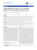 "Báo cáo y học: ""Latent Membrane Protein 1 as a molecular adjuvant for single-cycle lentiviral vaccines"""