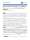 """Báo cáo y học: """"Vpx rescues HIV-1 transduction of dendritic cells from the antiviral state established by type 1 interferon"""""""