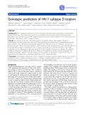 """Báo cáo y học: """" Genotypic prediction of HIV-1 subtype D tropism"""""""