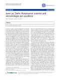 """Báo cáo y học: """"Jean-Luc Darlix: Renaissance scientist and retrovirologist par excellence"""""""