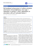"Báo cáo y học: ""Nef-mediated enhancement of cellular activation and human immunodeficiency virus type 1 replication in primary T cells"""