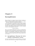 ALGORITHMIC INFORMATION THEORY - CHAPTER 8