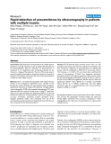 """Báo cáo khoa học: """"Rapid detection of pneumothorax by ultrasonography in patients with multiple trauma"""""""