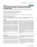"Báo cáo khoa học: "" Ventilator-associated pneumonia using a heated humidifier or a heat and moisture exchanger: a randomized controlled trial [ISRCTN88724583]"""