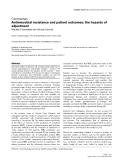 """Báo cáo khoa học: """"Antimicrobial resistance and patient outcomes: the hazards of adjustment"""""""