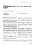 "Báo cáo khoa học: ""The pulmonary artery catheter: the tool versus treatments based on the tool"""