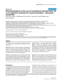 """Báo cáo khoa học: """"Recommendations on the use of recombinant activated factor VII as an adjunctive treatment for massive bleeding – a European perspective"""""""