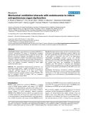 "Báo cáo khoa học: ""Mechanical ventilation interacts with endotoxemia to induce extrapulmonary organ dysfunction"""