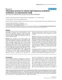 "Báo cáo khoa học: ""Alternative protocol to initiate high-frequency oscillatory ventilation: an experimental study"""