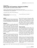 """Báo cáo khoa học: """"Statins, bugs and prophylaxis: intriguing possibilities"""""""