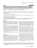 """Báo cáo khoa học: """"Efficacy and safety of a low-flow veno-venous carbon dioxide removal device: results of an experimental study in adult sheep"""""""