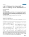 """Báo cáo khoa học: """"Neutrophil apoptosis: a marker of disease severity in sepsis and sepsis-induced acute respiratory distress syndrome"""""""
