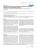 "Báo cáo khoa học: "" Hyperlactatemia during cardiopulmonary bypass: determinants and impact on postoperative outcome"""