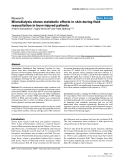 """Báo cáo khoa học: """"Microdialysis shows metabolic effects in skin during fluid resuscitation in burn-injured patients"""""""