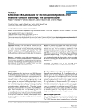 """Báo cáo khoa học: """"A modified McCabe score for stratification of patients after intensive care unit discharge: the Sabadell score"""""""
