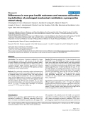 """Báo cáo khoa học: """"Differences in one-year health outcomes and resource utilization by definition of prolonged mechanical ventilation: a prospective cohort study"""""""