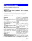 """Báo cáo khoa học: """" Hypercapnic acidosis in ARDS: A tolerated side effect or an important therapeutic modality"""""""