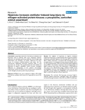 """Báo cáo khoa học: """" Hyperoxia increases ventilator-induced lung injury via mitogen-activated protein kinases: a prospective, controlled animal experiment"""""""