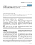 """Báo cáo khoa học: """"Computer simulation allows goal-oriented mechanical ventilation in acute respiratory distress syndrome"""""""