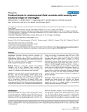 """Báo cáo khoa học: """"Cortisol levels in cerebrospinal fluid correlate with severity and bacterial origin of meningitis"""""""