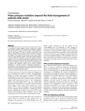 """Báo cáo khoa học: """" Pulse pressure variation: beyond the fluid management of patients with shock"""""""