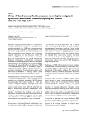 """Báo cáo khoa học: """"Video of dantrolene effectiveness on neuroleptic malignant syndrome associated muscular rigidity and tremo"""""""