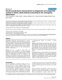 """Báo cáo khoa học: """" Serum procalcitonin measurement as diagnostic and prognostic marker in febrile adult patients presenting to the emergency department"""""""