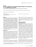 """Báo cáo khoa học: """" Bench-to-bedside review: Brain-lung interaction in the critically ill - a pending issue revisited"""""""