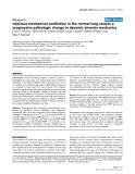 "Báo cáo khoa học: ""Injurious mechanical ventilation in the normal lung causes a progressive pathologic change in dynamic alveolar mechanics"""