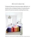 Điểm tô màu sắc cho phòng sơn trắng