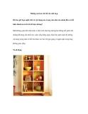 Những nơi lưu trữ đồ cho nhà hẹp
