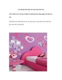 Căn phòng màu hồng cho nàng công chúa nhỏ