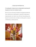 Ý tưởng trang trí nhà bằng hoa giả