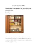 Tủ đồ thông minh cho bếp chật (P3)