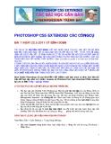 PHOTOSHOP CS5 EXTENDED CÁC CÔNGCỤ