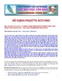 SỬ DỤNG PALETTE ACTIONS