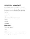 Breadsticks - Bánh mì tỏi ÝBreadsticks
