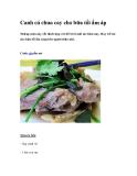 Canh cá chua cay cho bữa tối ấm áp