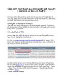 Giáo trình hình thành quy trình phân tích nguyên lý lập trình cơ bản với Androi  p1