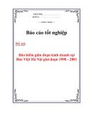 Báo cáo tốt nghiệp: Bảo hiểm gián đoạn kinh doanh tại Bảo Việt Hà Nội giai đoạn 1998 - 2001