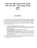 Luận văn :đầu tư phát triển ngành Chè Việt Nam - Thực trạng và giải pháp Phần 1