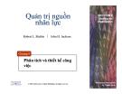Slide - Quản trị nguồn nhân lực - Phân tích và thiết kế công việc