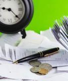 Bài tập kế toán chi phí - Chương 2: Phân loại chi phí và giá thành sản phẩm