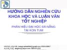 Hướng dẫn Nghiên cứu khoa học và Luận văn tốt nghiệp - Hoàng Văn Hải